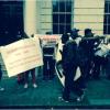 PHOTOS: PRO, ANTI BUHARI PROTESTERS SHOW UP AT CHATHAM HOUSE