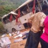 SCHOOL KIDS IN GASTLY CRASH ON THEIR WAY BACK FROM EXCURSION (GRAPHIC PHOTOS)