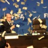 Watch Sepp Blatter 'stoned' with cash