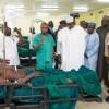 Photos: Buhari visit victims of Abuja bomb blast