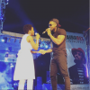 Flavour & Chidinma share a kiss while performing in Onitsha