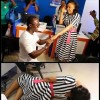 Photo: Excited lady rolls on the floor after her boyfriend proposed to her