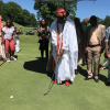 PHOTOS: Ooni of Ife and his Olori attend golf tournament in America