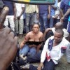Female robbery suspect stripped after she and her partners took N2m from a man in Port Harcourt (Photos)